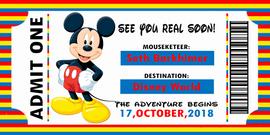 Disney Ticket Boy