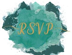 Turquoise Postcard RSVP