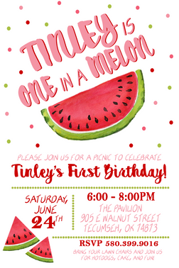 One In A Melon Birthday