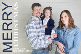 Stacked Navy Christmas Card