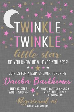 Twinkle Girl Baby Shower