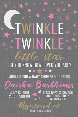Twinkle Girl Baby Shower