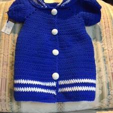 Knitted 'Sailor Dress'