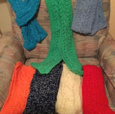 Bright and Cheerful Scarves $5