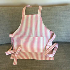 $10 Pink Striped Apron