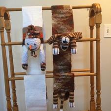 $20 each, Snowman or Puppy Scarf