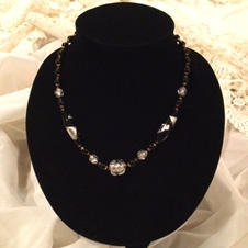 Necklace, Silver & Black $10