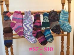 Children's hand-knitted socks