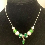 Bright Greens with Pendent