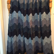 $45 Ripple Knit Afghan