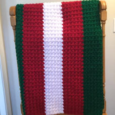 $45 Bold striped afghan