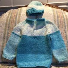 Turquoise Sweater  Set