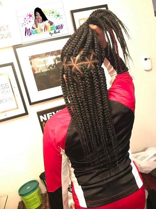 large triangle braids