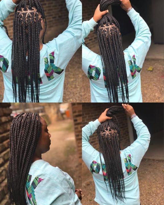 medium triangle braids