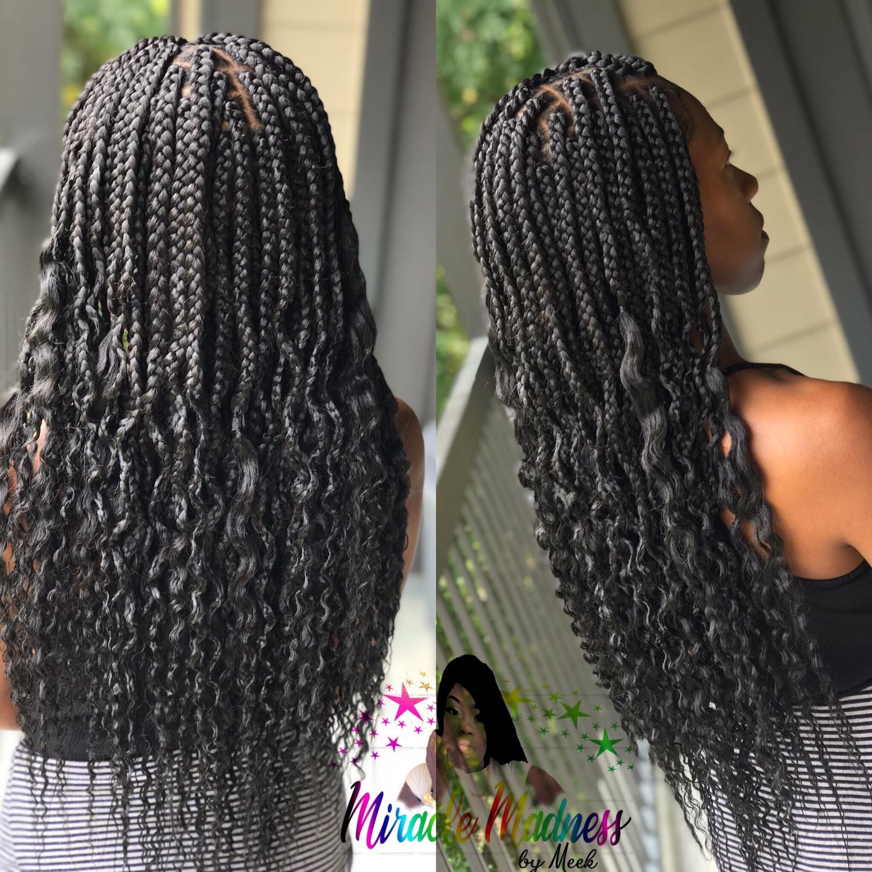 Goddess box braids medium