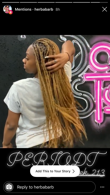 Small knotless box braids