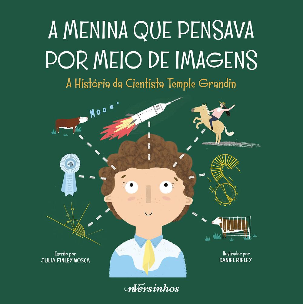 """Capa do livro """"A Menina Que Pensava Por Meio de Imagens"""""""