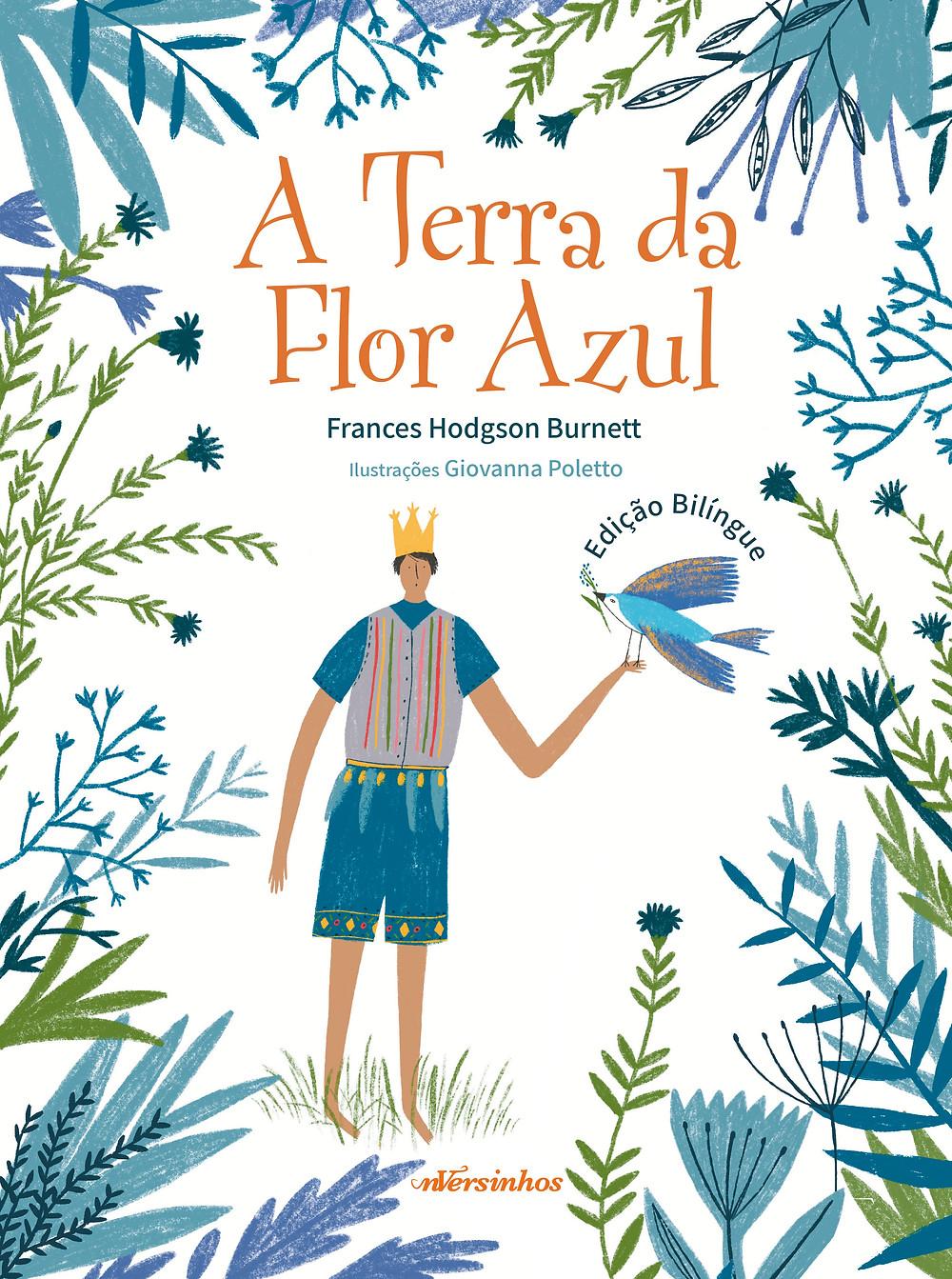 """Capa """"A Terra da Flor Azul"""""""