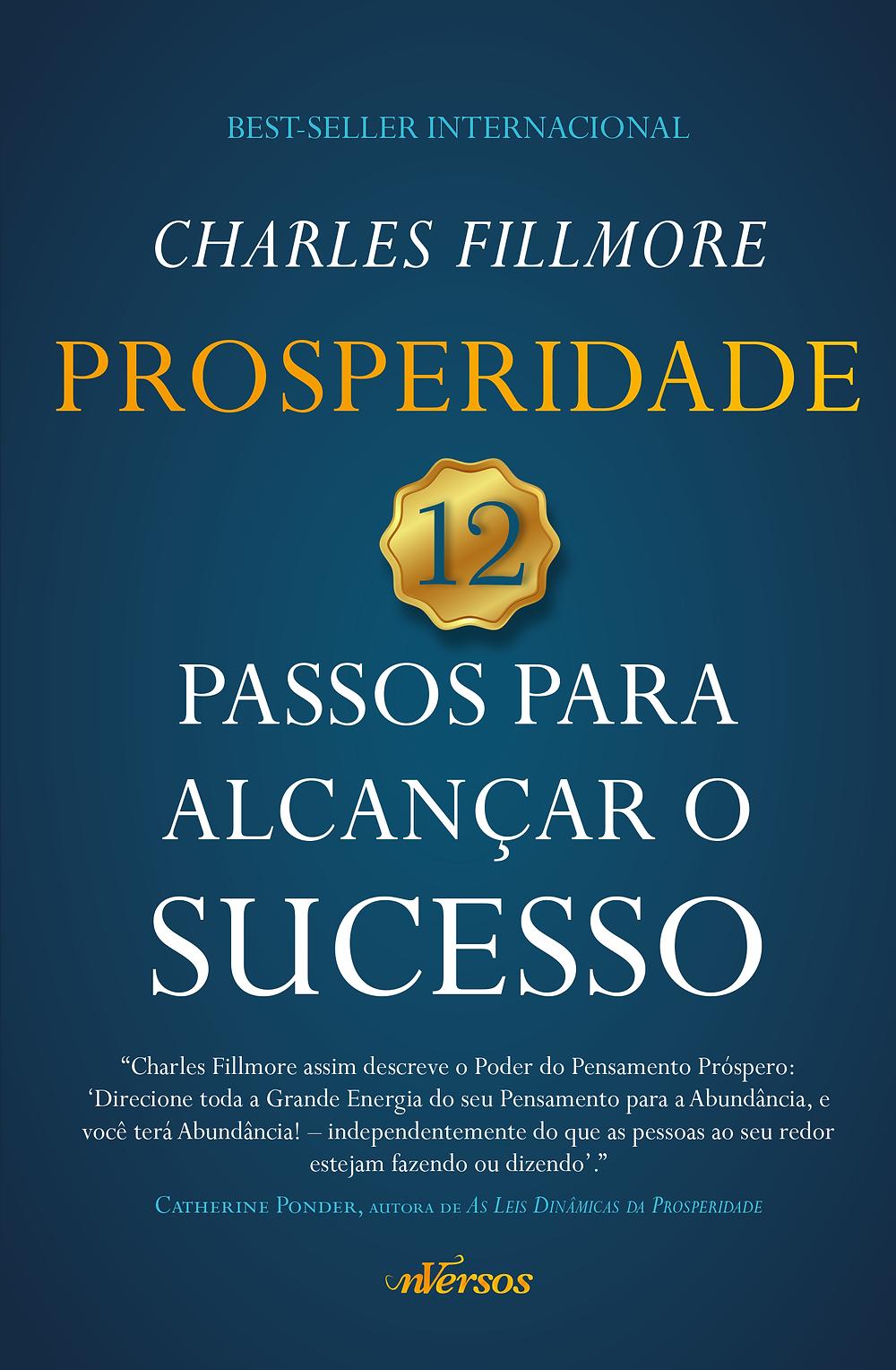 """Capa do livro """"Prosperidade: 12 Passos Para Alcançar o Sucesso""""."""