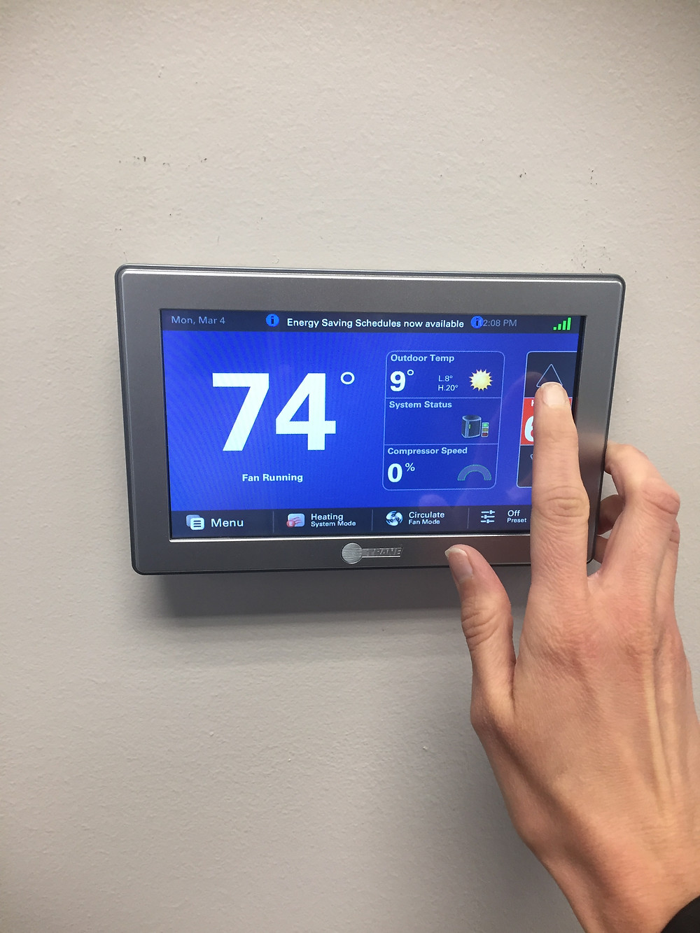 Setting Trane Thermostat to Heating
