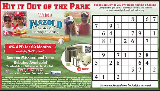 Hit it out of the park Faszold sudoku ad