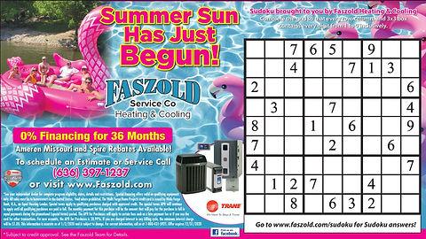 Faszold Summer Sun Has Begun Ad June 202