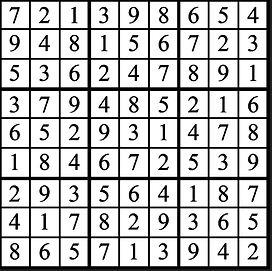 Faszold Christmas Ad 2020 Sudoku Answers