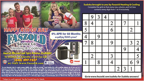 Happy 4th of July Faszold Sudoku Ad 2019