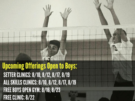 Boys Tryouts, August 30th!