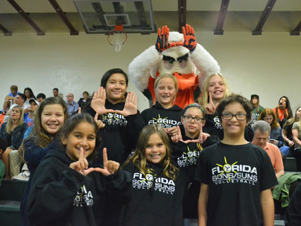 Hanging out with Sebastian at the UM vs Syracuse Volleyball Game