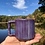 Thumbnail: Gozer Mug with Vertical Stripes in Pansy Purple over Speckle