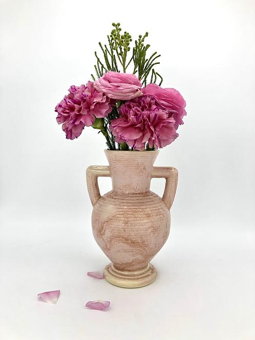 Peanut Vase in Horizontal Texture in Fire Opal