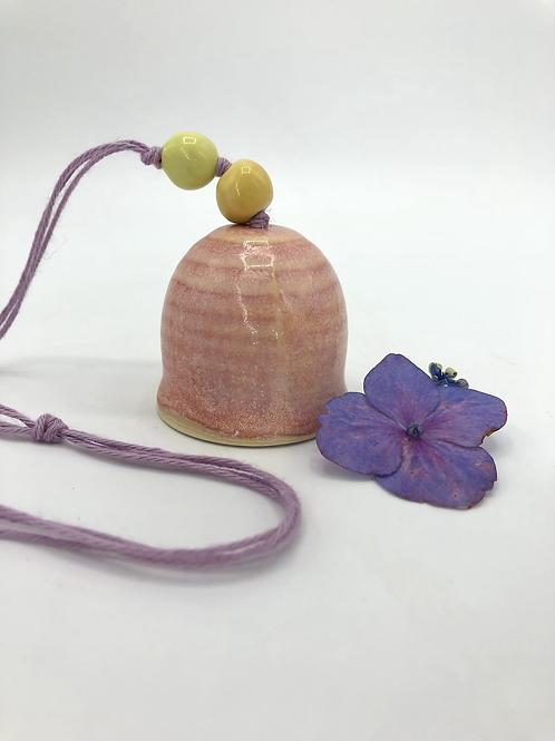 Gizmo Bell in Fire Opal and Yellow Beads