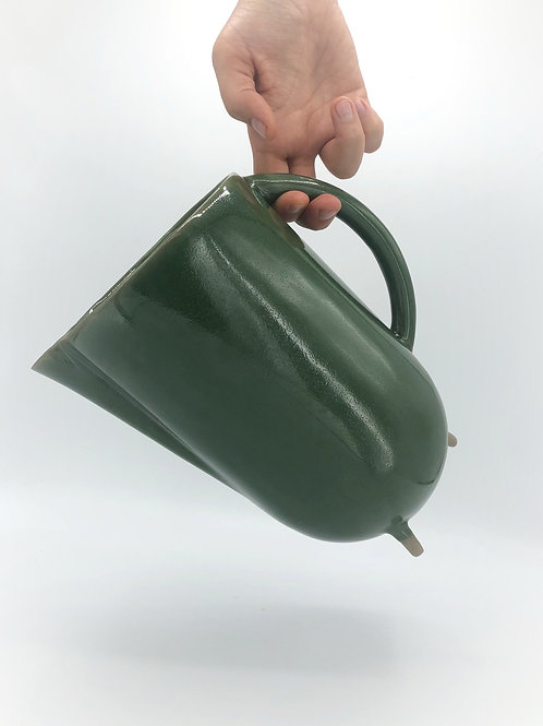 Plugsy Pitcher in True Celadon over Speckle