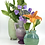 Thumbnail: Mini Snorks Bud Vase with Horizontal Texture in Green Flux