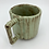 Thumbnail: Gozer Mug with Vertical Texture in Light Green Shino over Speckle