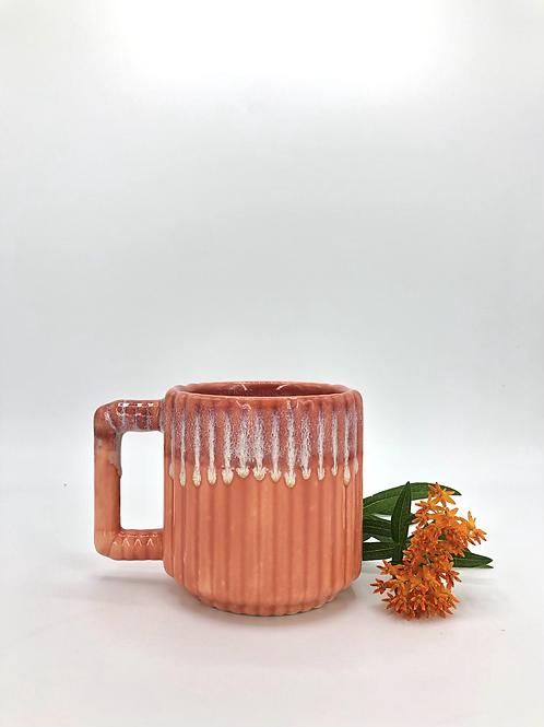 Gozer Mug with Vertical Texture in Poppy Flux