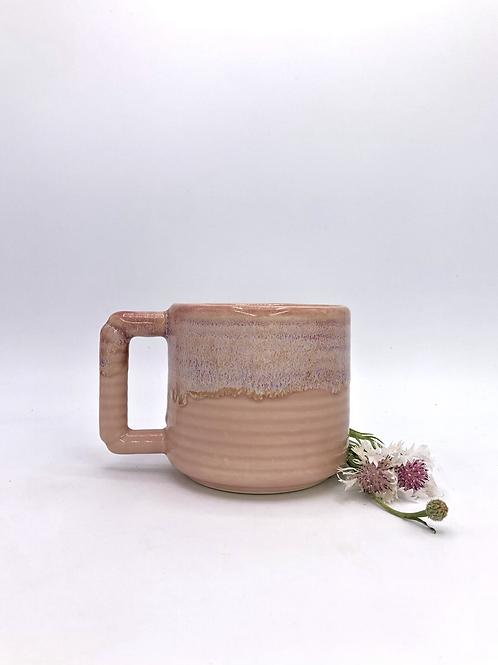 Gozer Mug with Horizontal Texture in Cherry Blossom Flux