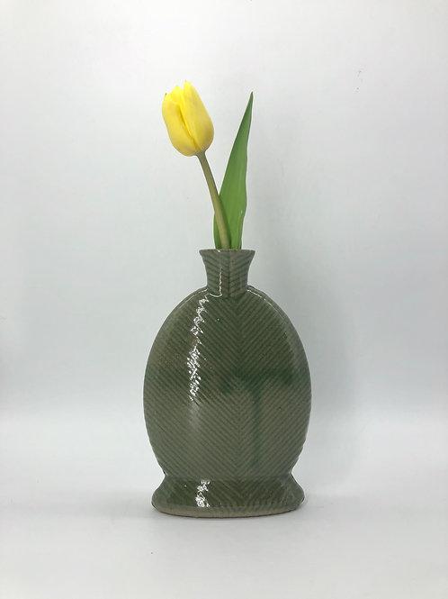 Willow Vase in True Celadon on Speckle