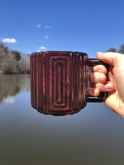 Gozer Mug with Rectangular Texture in Galaxy over Speckle