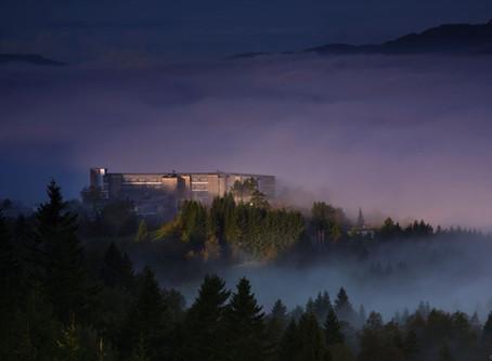 Utsikten Kunstsenter in Kvinesdal, Norway overlooks the Feda Fiord