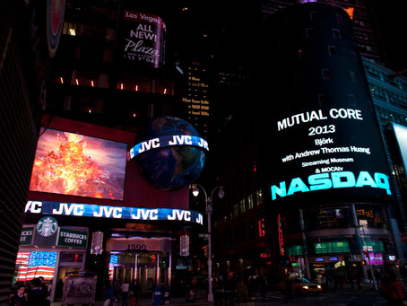 """Björk's """"Mutual Core"""" launches one-year world tour in Times Square for Nordic Outbreak"""