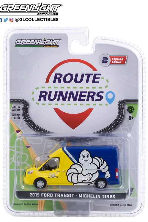 Greenlight Route Runners 2 2019 Ford Transit Michelin