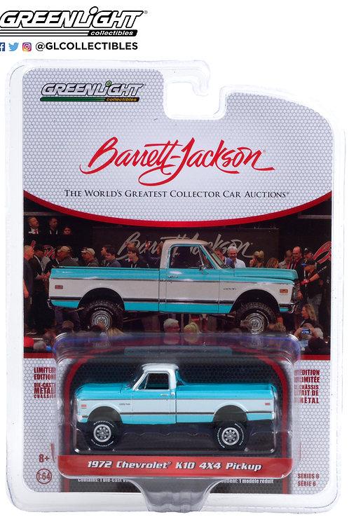 Greenlight Barrett Jackson 6 1972 Chevy K10 4x4 Pick Up Truck