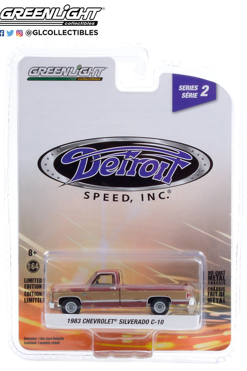 Greenlight Detroit Speed 2 1983 Chevy Silverado Pick Up Truck