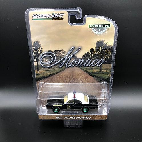 Greenlight Hobby Exclusive 1977 Dodge Monaco Green Machine