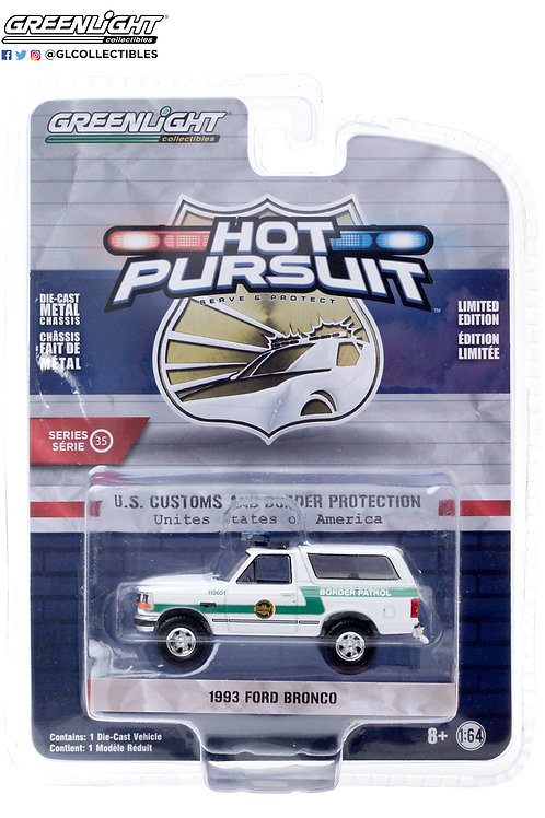 Greenlight Hot Pursuit 35 1983 Ford Bronco 4x4