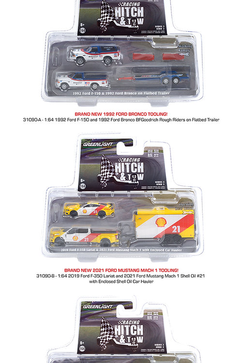 Greenlight Racing Hitch & Tow 3 Complete Set of 3