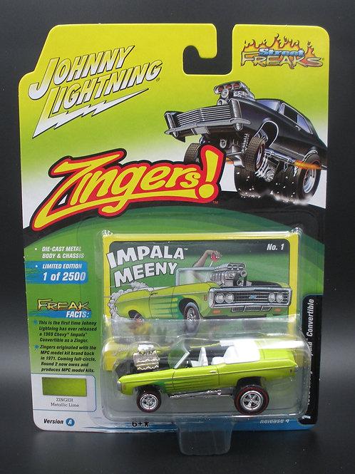Johnny Lightning Street Freaks 4 Version A 1969 Chevy Impala Convertible Zinger