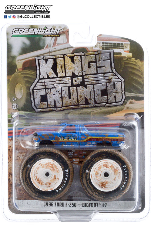 Greenlight Kings of Crunch 7 1996 Ford F250 Bigfoot Dirty